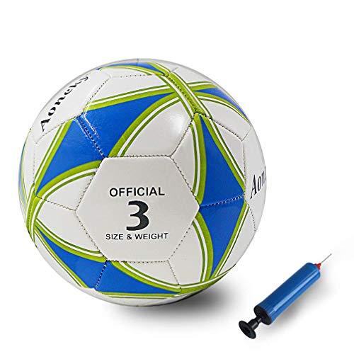 Aoneky Kinderfußball, Spielzeugball & Trainingsfußball, Gummi Fußball für Jungen & Kinder, Kinderspielzeug, Geburtstagsgeschenk, mit Luftpumpe