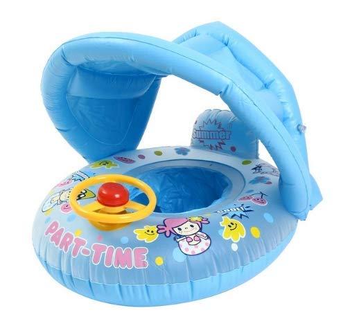 DUNDUNGUOJI Hammocks & Loungers Baby Kids Summer Swimming Pool Swimming Ring Inflatable Swan Swim Float Water Fun Pool Toys Sunshade Swim Ring Seat Boat Sport 100 Tore