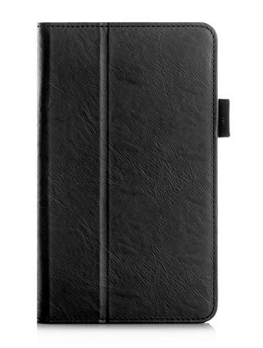 Huawei Mediapad M2 8.0 Hülle, ISIN Huawei Mediapad M2 8.0 Zoll Full HD Android Tablet PC Handy Premium PU-Leder Schutzhülle Tasche Stand Cover mit Handschlaufe,Stylus Halter und Kartenschlitz (Schwarz)