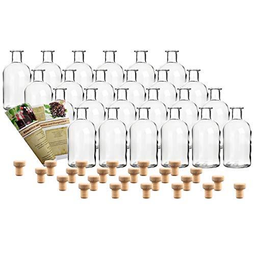 24 leere Glasflaschen