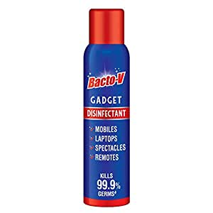 Bacto-V Gadget Disinfectant Spray with 99.7% Alcohol, No Water,100ml/78.6g