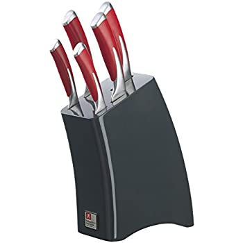 Laser Soft Touch 5 Piece Knife Block Amazon Co Uk