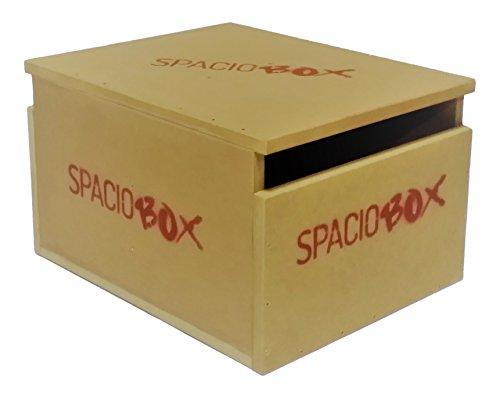 SPACIOBOX - Cajón de Salto pliométrico DM para Entrenamiento Funcional Cross Training - Unisex Adulto, Marrón