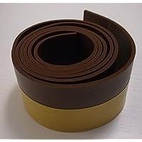 1m flexible para puerta Burlete cinta aislante Marrón autoadhesivo