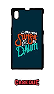 Caseque Sunset to Dawn Back Shell Case Cover For Sony Xperia Z1