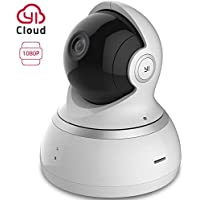 YI Caméra Surveillance Caméra IP Caméra Sécurité Caméra Dôme 1080p Full HD Audio Bidirectionnel Détection de Mouvement Vision Nocturne Service Cloud Disponible - Blanche