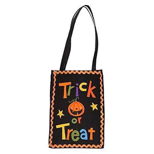 aloiness Kürbis Halloween Süßigkeitstasche Vlies Cookie Taschen Lebensmittelecht Gunst Taschen Geeignet für Halloween Party