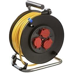 as - Schwabe 10139 Sicherheits-Kabeltrommel 285mmØ 33m K35 AT-N07V3V3-F 3G2,5 gelb, IP44 Aussenbereich
