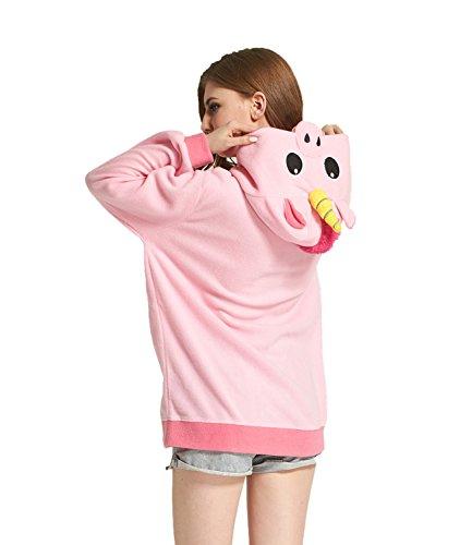 b9ea2e41001e ... DarkCom Cartoon Unicorno Giacche Cosplay Abbigliamento Zip Felpe Con  Cappuccio Felpa Capispalla Rosa Unicorno