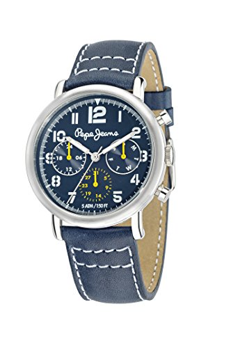 Pepe Jeans Steve Men's Quartz Watch with Black Dial Analogue Display and Black Plated Stainless Steel Strap R2351108002
