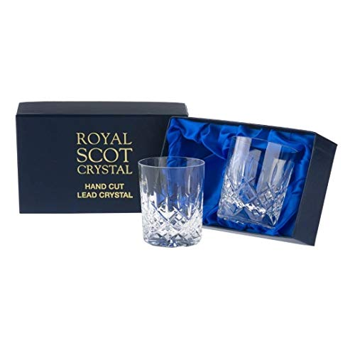 2Royal Scot Große Whisky Gläser-London-PRÄSENTATION Box -