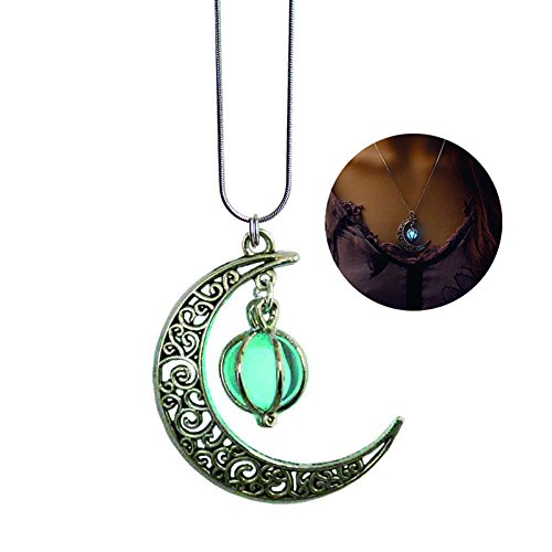 GPIRAL Luna, Stella Luminosa in Lega Jewelry Collana con Ciondolo Placcato (18