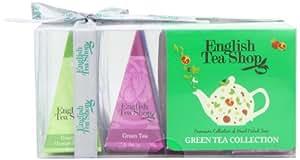 English Tea Shop Green Tea Collection 12 Pyramid Tea Bags Gift (Pack of 2)