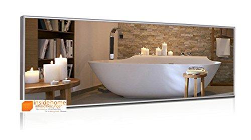Infrarotheizung Spiegel mit Aluminium - Rahmen, Spiegelheizung / 320 Watt - 120 x 35 x 2,5 cm