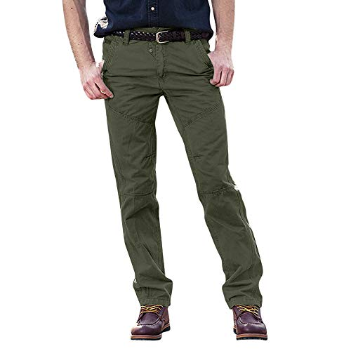 UJUNAOR Männer Cargo Hosen Casual Tactical Military Army Freien Arbeiten Pants Baumwolle Freizeithose Fit Arbeitshose(Armygrün,EU 44/CN 30)