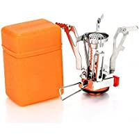 Sandy Beach 3000W Camping Stove Piezo Ignition Outdoor Cooking Propane Gas Butane Burner Portable Folding Windproof Waterproof with Carrying Case
