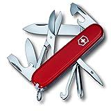Victorinox Taschenmesser Super Tinker (14 Funktionen, Dosenöffner, Phillips Schraubendreher) rot