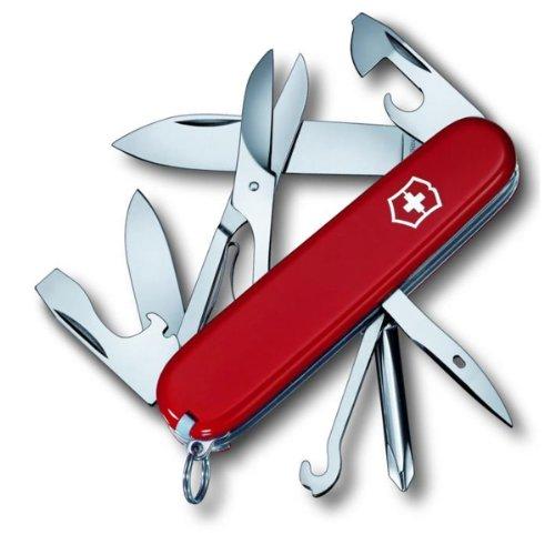 Victorinox Taschenmesser Super Tinker (14 Funktionen, Dosenöffner, Phillips Schraubendreher) rot -