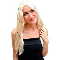 Party/Fancy WIG ME UP - PW0068-P88 - Peluca hippie RUBIA, Woodstock