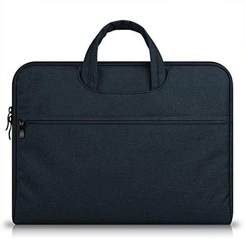 TechCode 13,3-Zoll Laptop Tasche, 13-13,3 Zoll Laptop-Hülle Tragetasche MacBook Air/MacBook Pro/Retina / Notebook/Laptops / Tablet PC/Ultrabook / Chromebook Aktentasche Handtasche Griff (Schwarz)