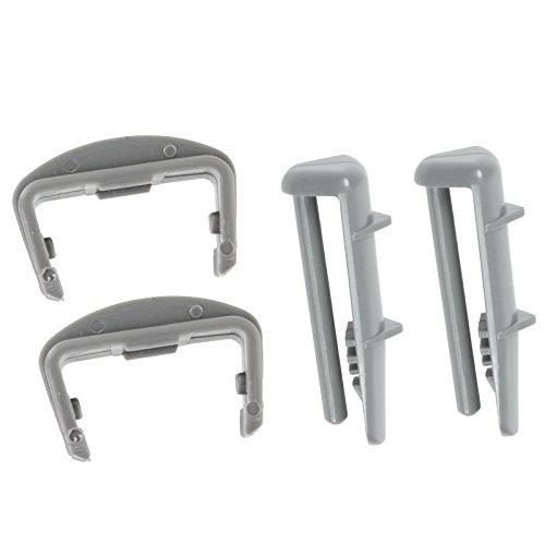 SPARES2GO Schienen-Endkappen für Beko-Geschirrspüler, für vorne und hinten, Kunststoff