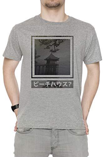 62a88ea19936 Erido Los Choza Hombre Camiseta Cuello Redondo Gris Manga Corta Tamaño L  Men s Grey T-Shirt Large Size L