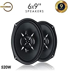 Woodman 6x9 Inch Oval (520 Watts - 3 Way Speaker) 1 Year Warranty 6953 Coaxial Car Speaker