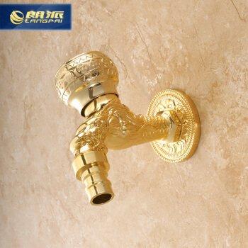 Bagno rame antico lavatrice rubinetto tipo drago rubinetto lungo piscina mop singolo rubinetto freddo europeo retrò oro dorato imperatore maniglia - maniglia corona d'oro 8% di sconto 88 yuan