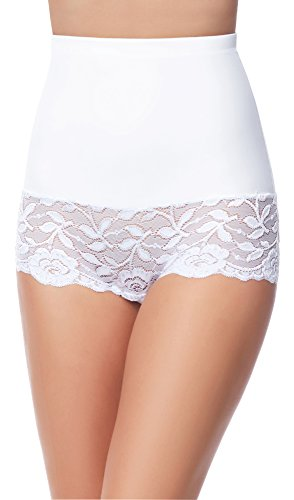 Merry Style Damen Slip Miederslip figurformend Bauch Weg Effekt Shapewear MS10-134 (Weiß, XL)