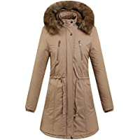 Hanomes Damen pullover, Frauen Winter Warm Print Coat Stand Hals Dicke warme dünne Lange Jacke Mantel preisvergleich bei billige-tabletten.eu