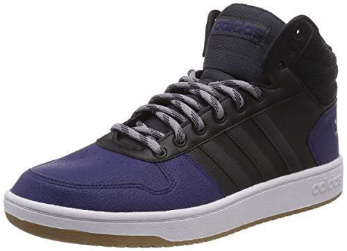 adidas Herren Hoops 2.0 Mid Gymnastikschuhe, Schwarz (Core Black/Carbon S18/Light Granite), 48 EU