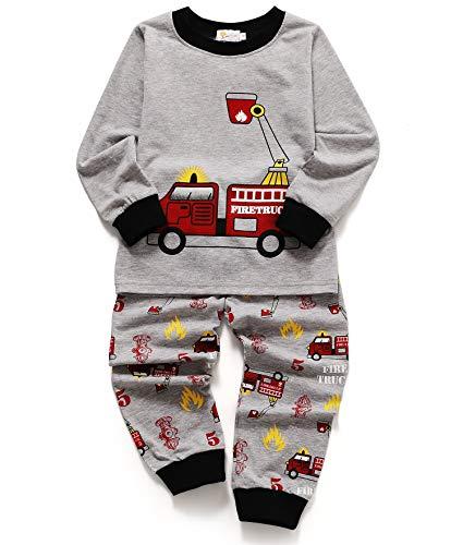 Kinder-weihnachts-pyjamas (Tarkis Jungen Pyjama Schlafanzüge Lange Zweiteiliger Schlafanzug, 1, 116 (Herstellergröße: 130))