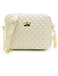 Women Shoulder Bags, Rcool Women Girls Fashion Casual Leather Rivet Chain Shoulder Bag Crossbody Bag Purse Handbag Messenger Bag