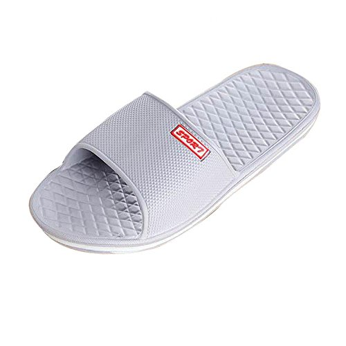 Byste Flat Bath Slippers Summer Sandals Beach Shower Shoes Anti Slip Round Head Indoor & Outdoor Home Slippers Rubber Massage Gladiator Men Teen Boys,Convenient Guests Shoes