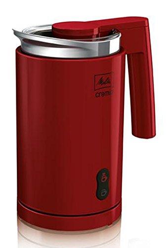 Melitta 100501 rd Milchaufschäumer Cremio für kalte und warme Milch, rot thumbnail