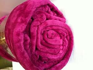 Linenstowels2011 grand couvre lit plaid en fausse fourrure - Plaid fausse fourrure rose ...