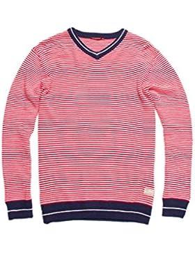 Carrera Jeans - Suéter 843 para hombre, de rayas, ajuste regular, manga larga