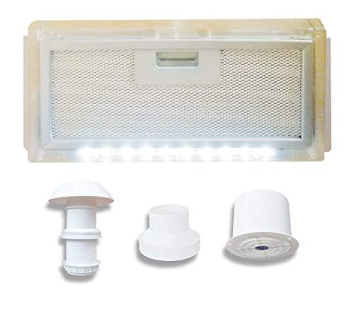 AVDISTRIBUTION Sturmhaube für Camper - Lux - Erhältlich in der Version mit oder ohne LED-Licht KIT Cappa ASPIRANTE 12V Con LUCE LED Con Kit-led