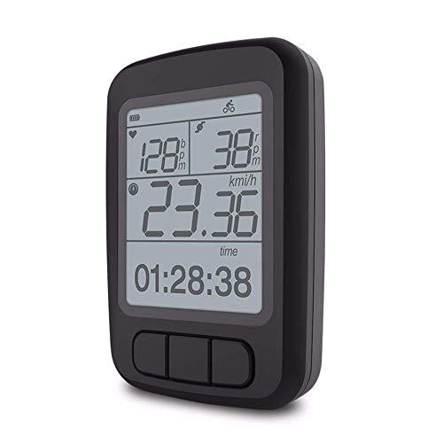 BC100 Bike Computer, Drahtlose Tacho-Zyklus-Stoppuhr Zeigt Die Geschwindigkeit Der Herzfrequenz Und Zeit/Höhe/Temperatur/Druck Und Unterstützt Ant + IPX7 Wasserdichtes Fahrradzubehör