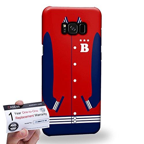 (Case88 [Samsung Galaxy S8 Plus / S8+] 3D Hülle / Schutzhülle & Garantiekarte - Art Sports Fire Brick Baseball Jersey 1986)