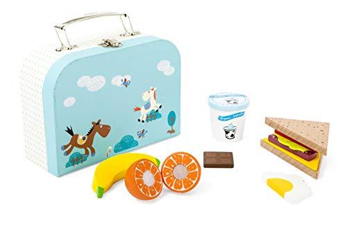 ßes Frühstücksset aus Holz - 13 Teile, 100% FSC-Zertifiziert, schöner Koffer mit ausgewählten Produkten Spielzeug, Mehrfarbig ()