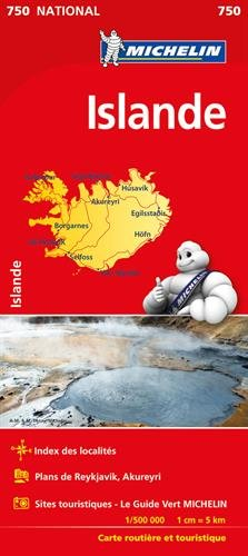 Carte NATIONAL Islande Michelin par Michelin