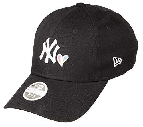 New Era New York Yankees Baseball Cap New Era Verstellbar 9forty MLB Herz Schwarz - One-Size (New York Yankees Baseball Cap)