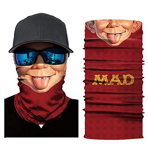 99native Fishing Company Face Shield Damen/Herren Multifunktionstuch | Sturmmaske | Bandana | Schlauchtuch | Halstuch für Motorrad Fahrrad Ski Karneval Kostüm 3D Tiere Maske (A)