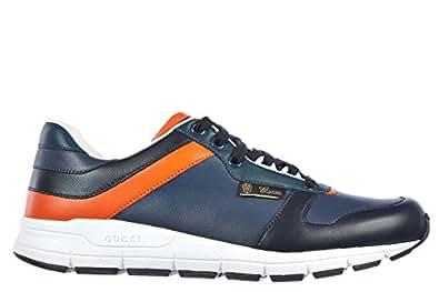gucci herrenschuhe herren leder schuhe sneakers miro s blu. Black Bedroom Furniture Sets. Home Design Ideas