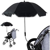 Sombrilla Universal Carrito de Bebé, Paraguas Sombrilla Parasol para Cochecito y Silla de Paseo con