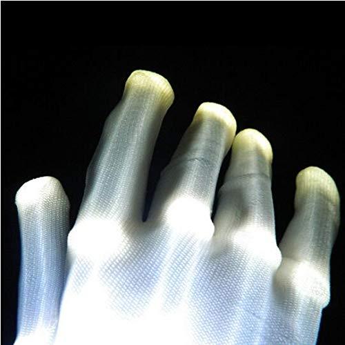 MEICHEN 6 Farben 1 stücke led blinkende Handschuhe glühen leuchten Finger Beleuchtung Dance Party Dekoration glühen Partei liefert Requisiten, White