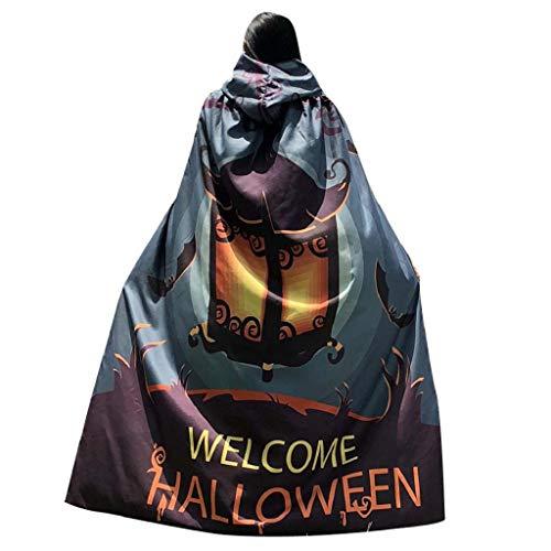 Lady Kürbis Kostüm - SHOBDW Frauen Neuheit Kürbis Print Cape Schal Lady Halloween Poncho Schal Wrap Kostüm Shawl Damen Tanz Kostüm Umhang mit Kapuze Umhang Halloween Damen