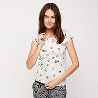 Smiley World T-Shirts For Women, CREAM M
