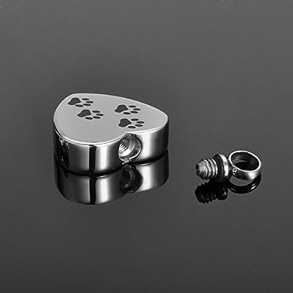 HooAMI Memorial Jewellery Stainless Steel Dog Footprint Cremation Urn Ashes Keepsake Pendant Keychain Keyring, Normal 5
